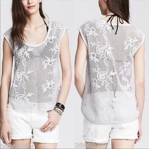 ⭐️3for$25 Banana Republic Floral Net Top